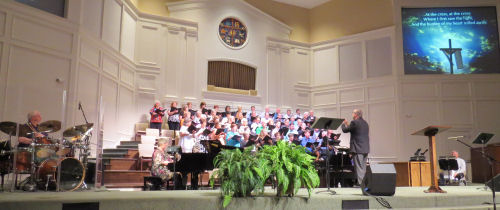 choir at Woodmont Church, Florence Alabama