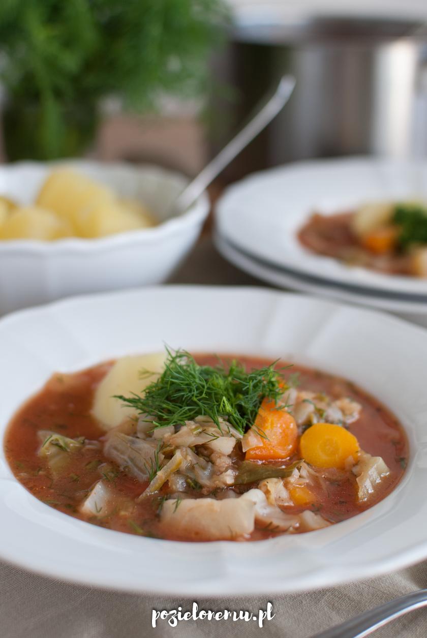 Wegańska zupa gołąbkowa