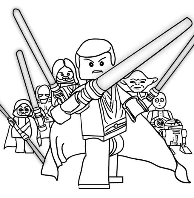 Gambar Mewarnai Lego Untuk Anak Paud Dan Tk