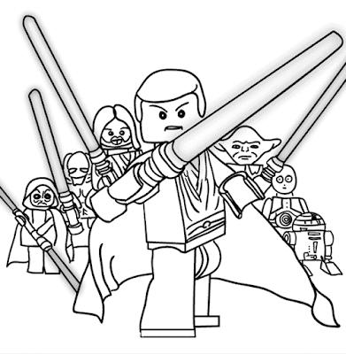Gambar Mewarnai Lego - 2