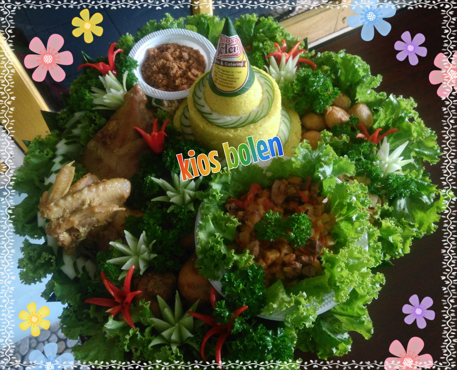 Kios Bolen Semarang Tumpeng Nasi Kuning Ingkung