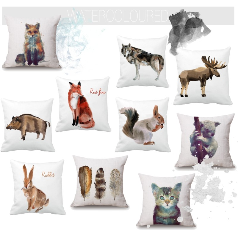 Watercolour cushions