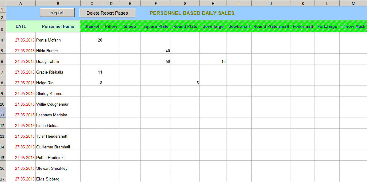 daily sales report with excel vba hints and tips about