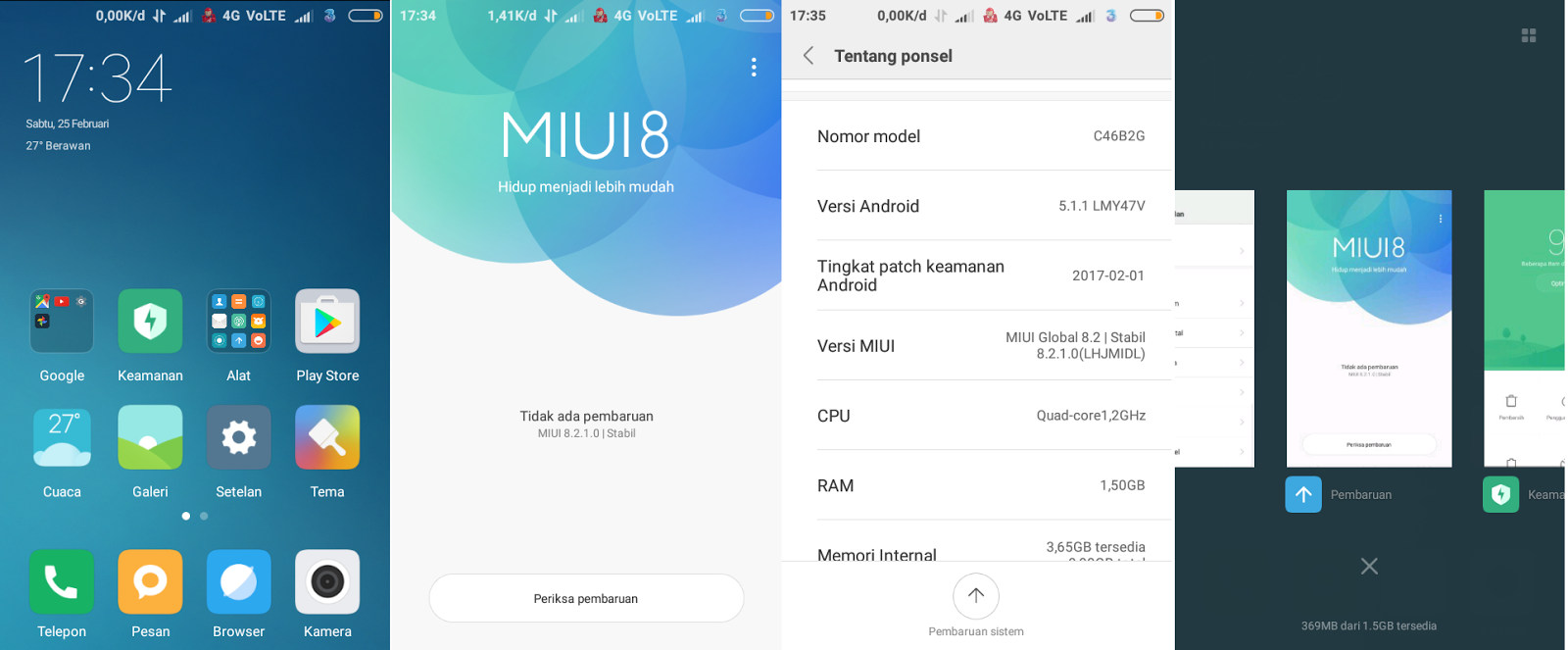 Custom ROM Miui 8 Global Stable 8.2.1.0 VoLTE Andromax ES 8210