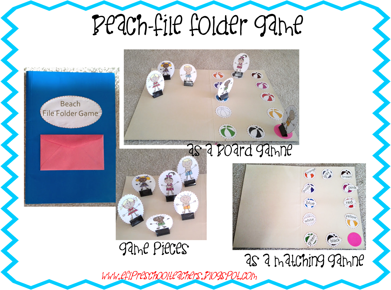 Esl Efl Preschool Teachers Beach Theme For English
