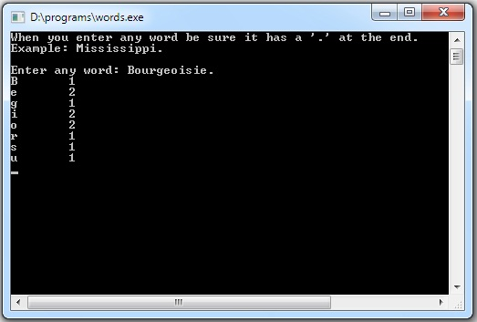 C Program That Counts The Number Letters In A Word
