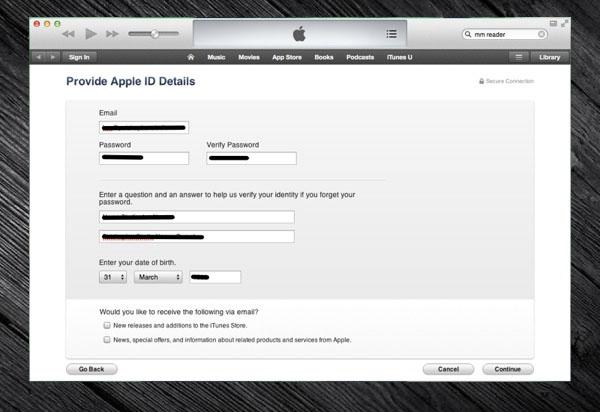 Cara Membuat Apple ID pada iTunes Tanpa Kartu Kredit