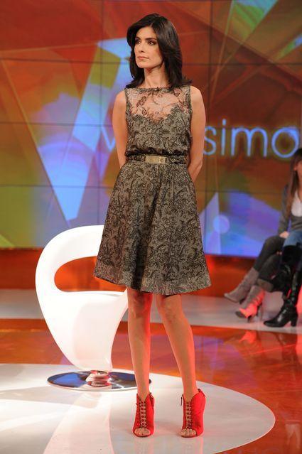 new product 2cfc3 acd23 Anna Valle a Verissimo indossa un abito Roberto Cavalli ...