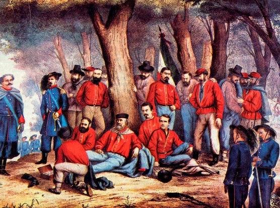 Garibaldi ferito sull'Aspromonte