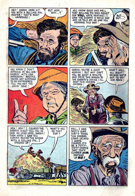 Wyatt Earp v2 #10 - Russ Manning dell western 1960s silver age comic book page art