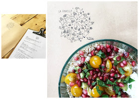 Café, restaurant, boutique déco, à Marrakech / Salade végétarienne /