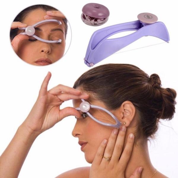 Women Mini Facial Hair Remover Spring Threading Face Defeatherer Hair Removal Epilator