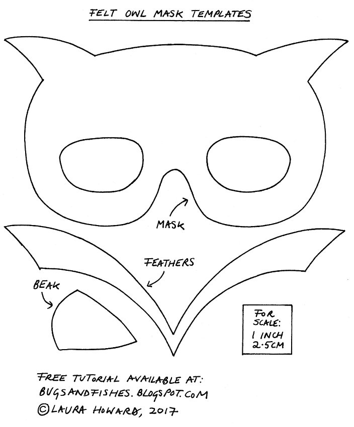 Bugs and Fishes by Lupin: Felt Owl Mask Tutorial for Halloween