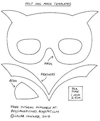 felt owl mask templates