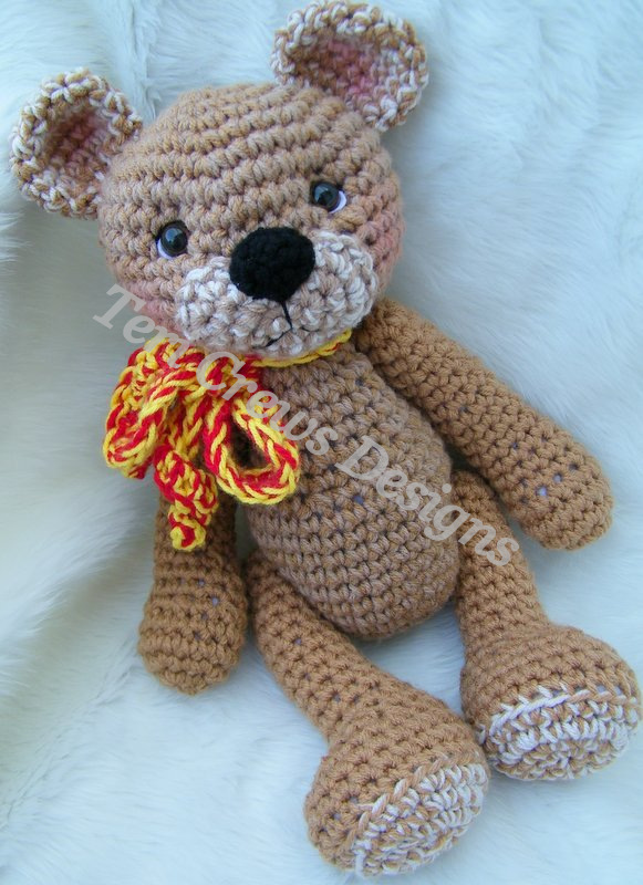 Teri's Blog: Teddy Bear For Hugs Crochet Pattern Now
