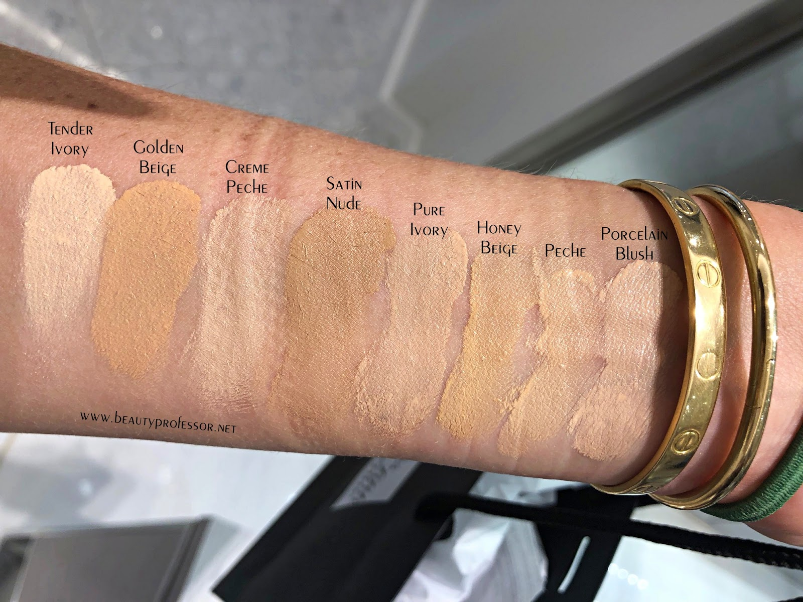 la prairie essence-in-foundation swatches