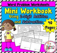 mini workbook using 2 digit word problems