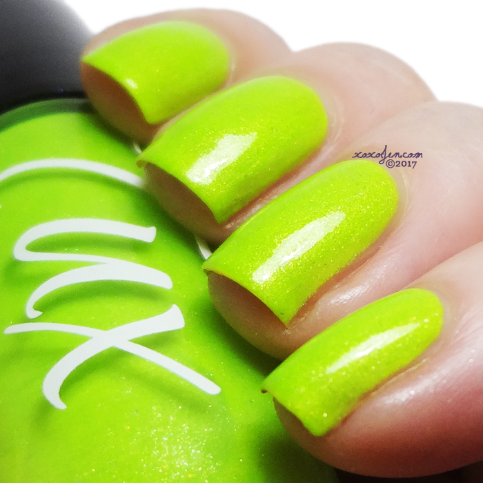 xoxoJen's swatch of Tux Polish Beetlejuice