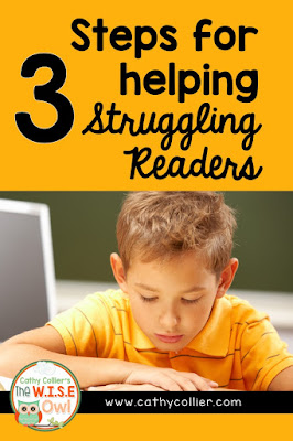 3 Steps for helping Struggling Readers - Using notes from a workshop with Jan Richardson and my experiences, this is a plan for helping students.