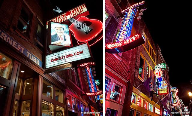 Honky-tonks em Nashville