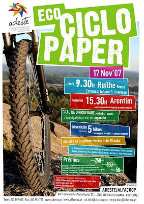 cartaz da eco ciclo paper