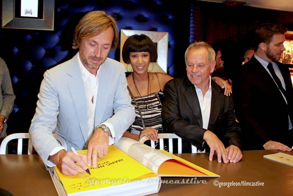 Marc Newson, Gelilla Assefa, Wolfgang Puck at Taschen © george leon / filmcastlive