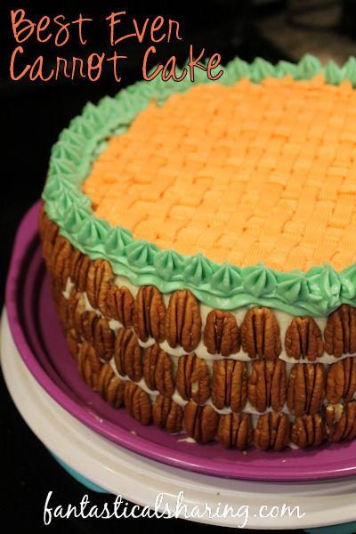 Best Ever Carrot Cake | This carrot cake is moist and fluffy making it the BEST EVER!! #recipe #cake #carrotcake #SundaySupper #dessert #easter #spring