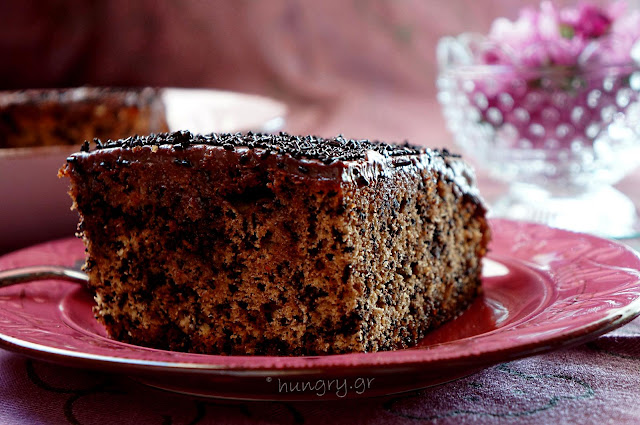 Syrupy Cake with Chocolate Sprinkles