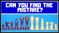 Here are 5 picture puzzles relating to chess pieces in which your challenge is to find the mistake in each picture