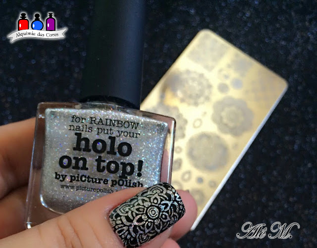 piCture pOlish, Holo on Top, Top Coat holográfico, SB046, Sugar Bubbles, La Femme, Alê M.