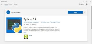 python 3.7 windows 10