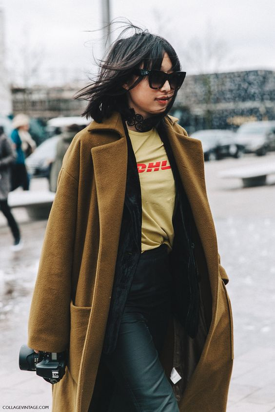 Collage Vintage LFW Street Style - Margaret Zhang