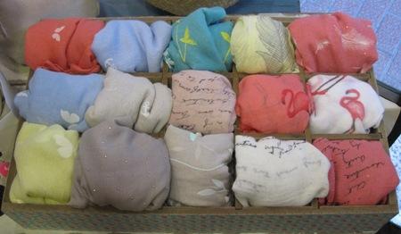 Fulares estampados de colores diversos