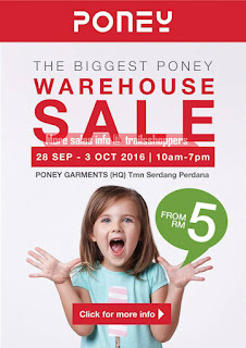 Poney Annual Warehouse Sale 2016!
