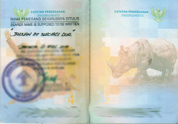 cara seepage paspor di halaman 4