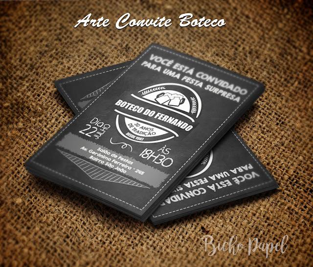 Convite Boteco / Chá Bar Chalkboard