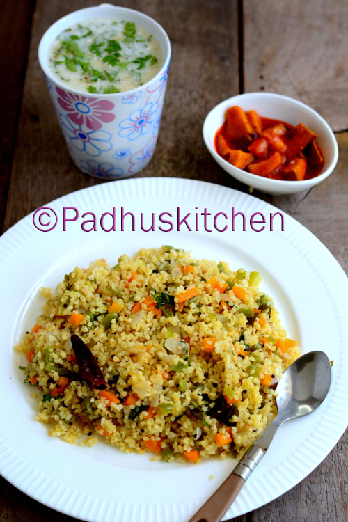 Bulgur Wheat Upma