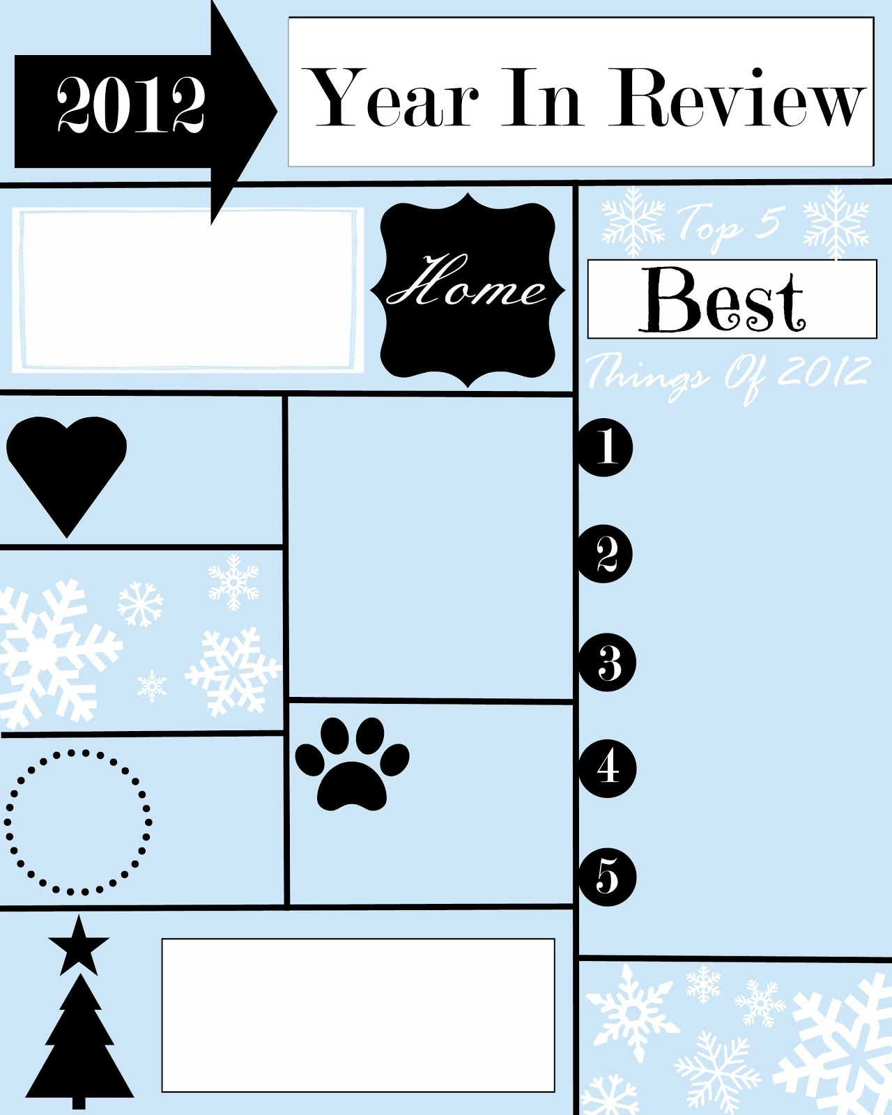A year in review christmas letter and template stonegable for Year end review template