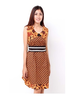 Dress Batik Modern Kerja