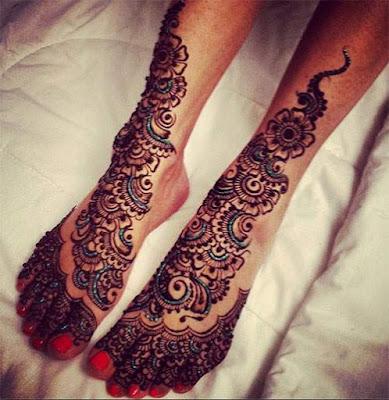 Contoh Henna Simple Di Kaki Makedes Com