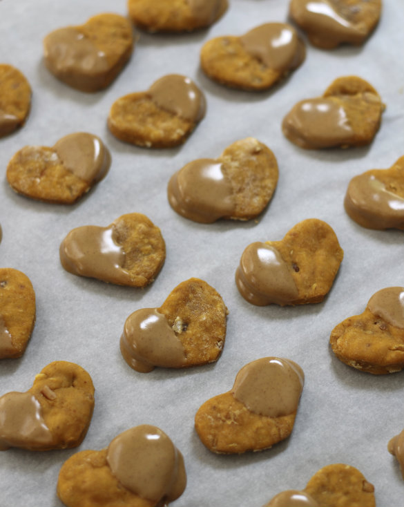 Natural Dog Treat Recipe Frosted Peanut Butter Sweet