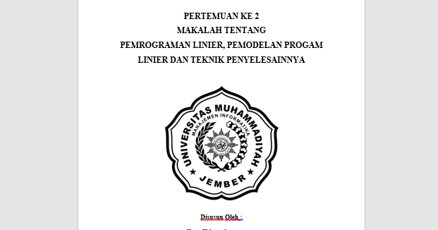 Makalah Pemrograman Linier pdf | Download Source Code PHP ...