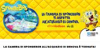 Logo Concorso '' Una notte all'Acquario con Nickelodeon'': vinci gratis soggiorni per la famiglia con Spongebob