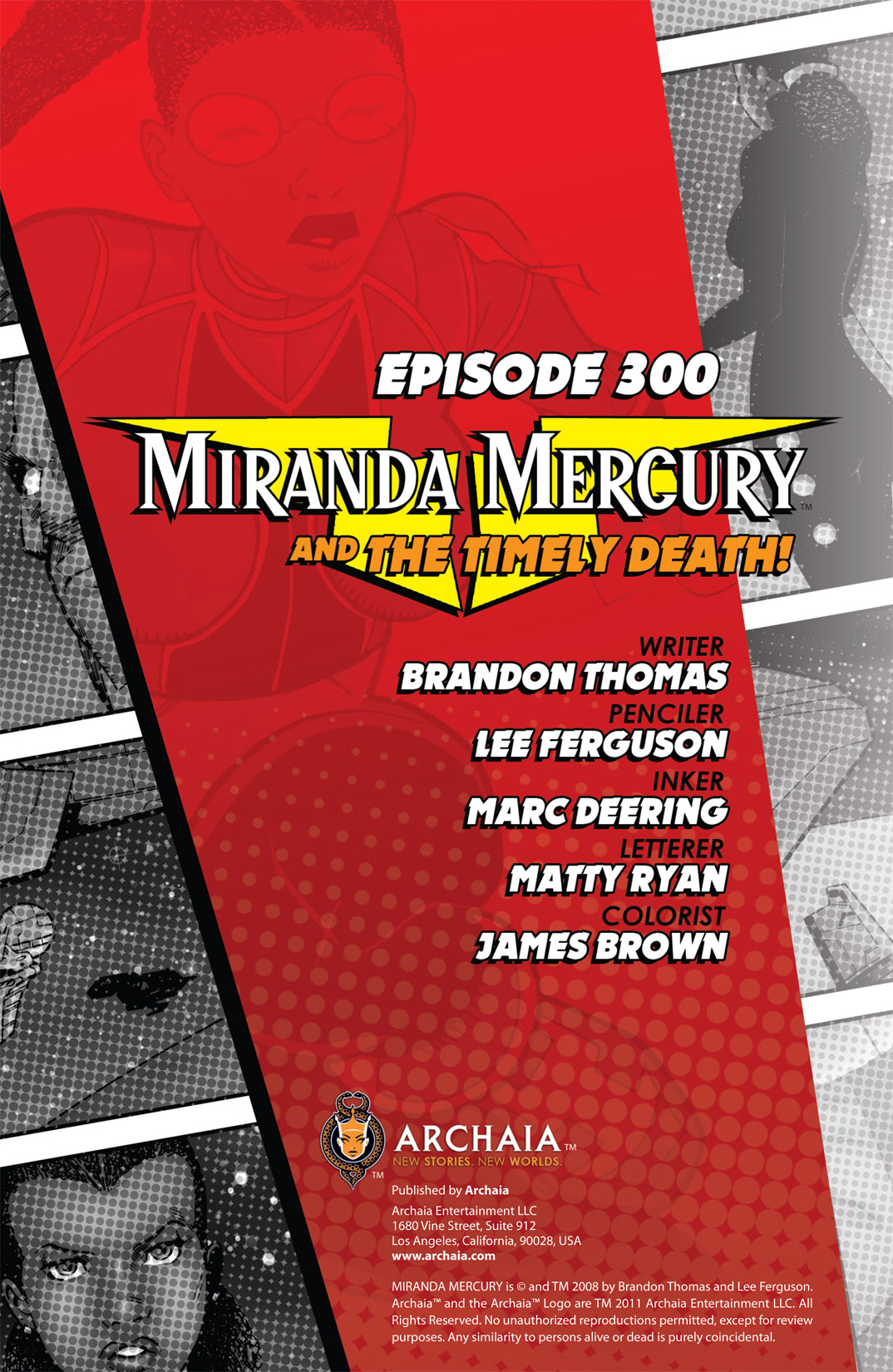 Read online The Many Adventures of Miranda Mercury: Time Runs Out comic -  Issue # TPB - 141