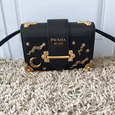 b786e07569122b Prada Cahier Bag with Star and Moon Appliques 1BD057 | Real Prada Bags Sale