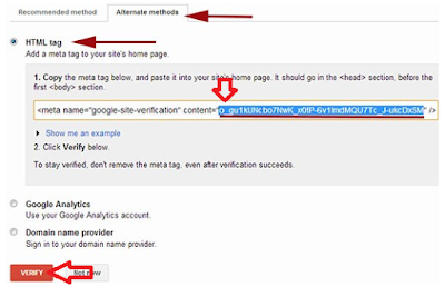 Screenshot: verify website