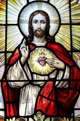 Imagem do Sagrado Coração de Jesus, foto, vitral, #1