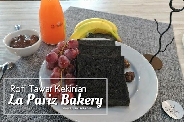 La Pariz Bakery, roti tawar kekinian, roti tawar black charcoal, roti tawar hitam