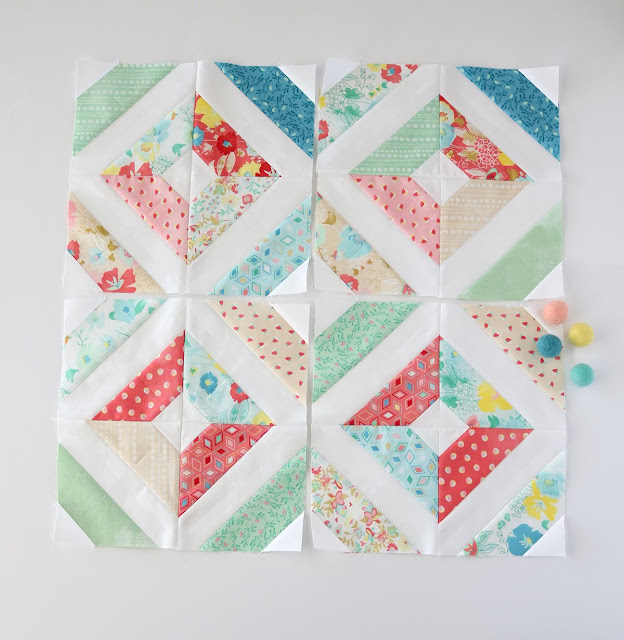 Charming Baby Sew Along with Melissa Corry and Fat Quarter Shop - quilt blocks by Andy of A Bright Corner