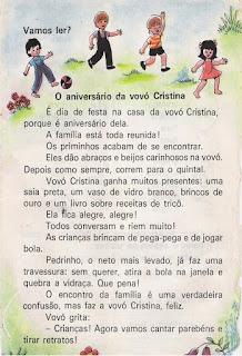 Leitura O aniversário da vovó Cristina